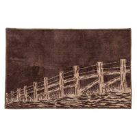 Barbed Wire Fences Bath Rug